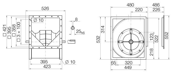 Images Dimensions - RZR12-0280 Centr.vent. 090/270 - Systemair