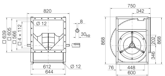Images Dimensions - RZR15-0450 Centr.vent. 090/270 - Systemair