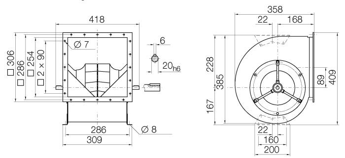 Images Dimensions - RZR19-0200 Centr.vent. 090/270 - Systemair
