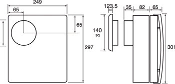 Images Dimensions - CF 40 TD Premier ventilátor - Systemair