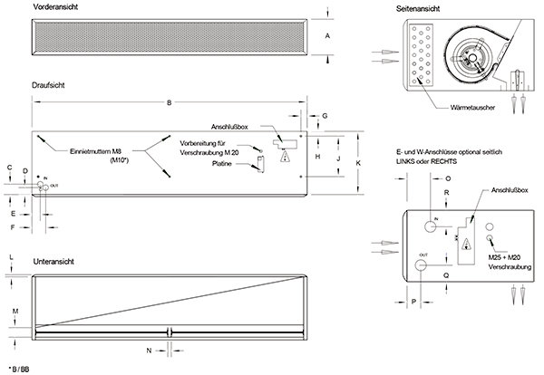 Images Dimensions - CL Linea eco BB1000WL hor. - Systemair