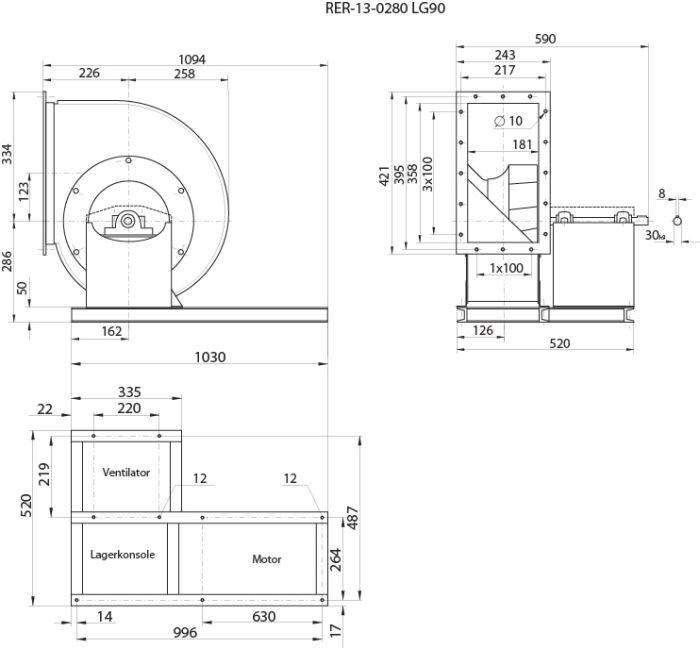 RER13-0280LG Centr.vent. 090 - Systemair