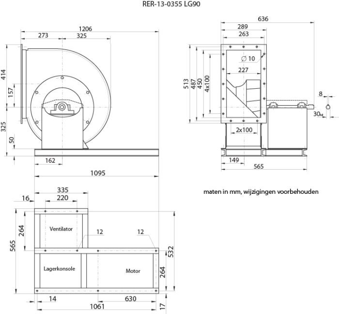 Images Dimensions - RER13-0355LG Centr.vent. 090 - Systemair