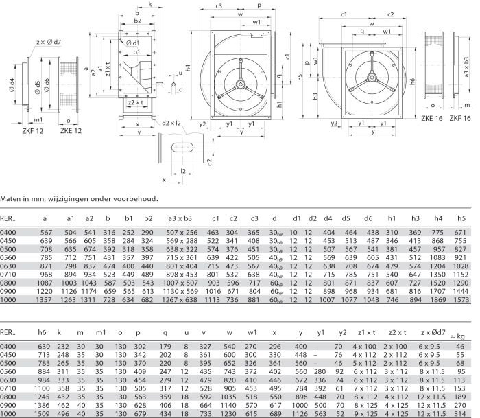 Images Dimensions - RER15-0560LG Cen.vent. 090/270 - Systemair