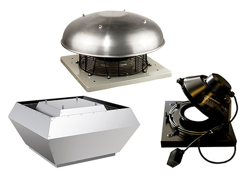 Roof fans direct driven