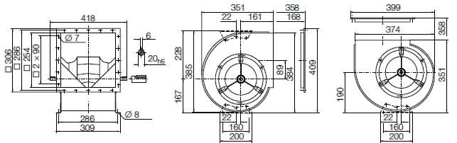 Images Dimensions - RZR11-0200 - Systemair