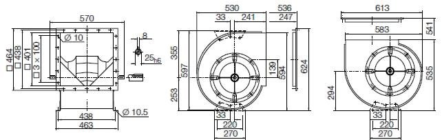 Images Dimensions - RZR11-0315 - Systemair