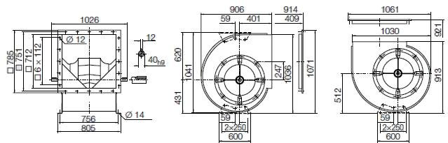 Images Dimensions - RZR11-0560 - Systemair