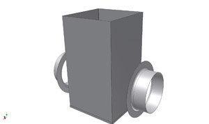 SQ450 Vierkante overschuifdeel - Systemair