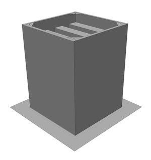 ZDS450 Dakopstand/Geluiddemper - Systemair